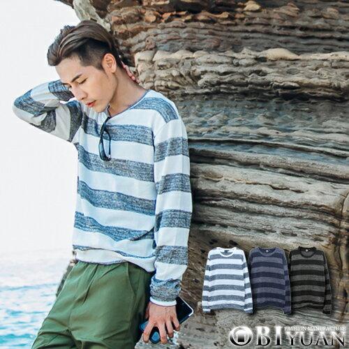 條紋針織衫【JG6291】OBI YUAN韓版雪花針織彈性長袖上衣 共3色