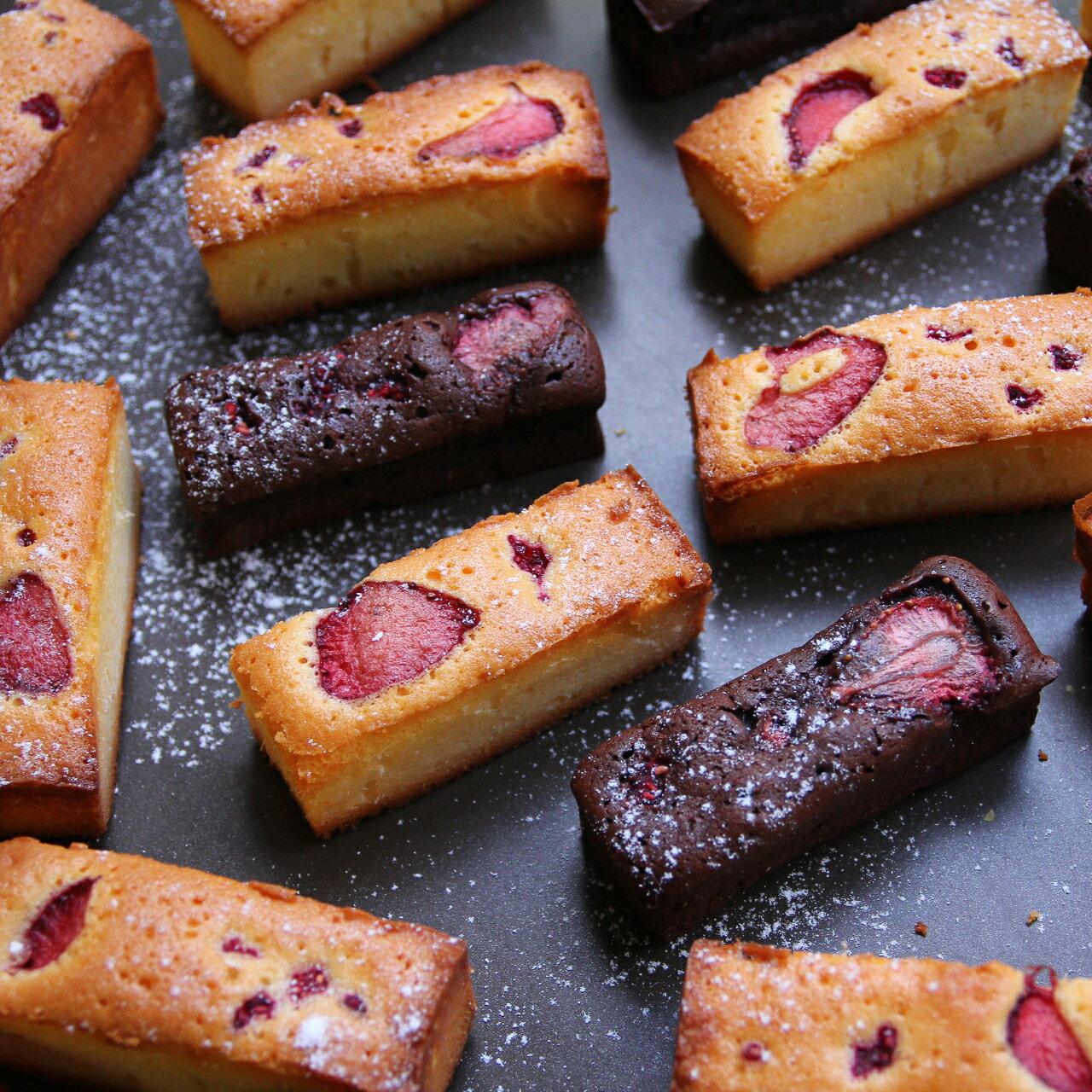Cocolicious口口好吃 蜂蜜草莓/巧克力草莓磅蛋糕禮盒 8入