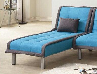 !新生活家具! 北歐風 沙發床 布沙發 藍色 貴妃椅 一人座 《奶油滾邊》躺椅 單人座 二色可選 非 H&D ikea 宜家