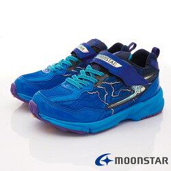 日本月星頂級競速童鞋 閃電3E運動系列 SSJ8615藍(中大童段)