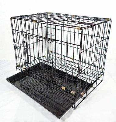 狗籠摺疊 1尺半 全新寵物籠 靜電粉體烤漆 鐵線雙 開黑色狗籠易收納