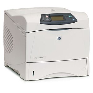 HP LaserJet 4350n Laser Printer - Monochrome - 1200 x 1200 dpi Print - Plain Paper Print - Desktop - 55 ppm Mono Print - Letter, Legal, Executive, Statement, Envelope No. 10, Monarch Envelope, Custom Size - 600 sheets Standard Input Capacity - 250000 Duty 4