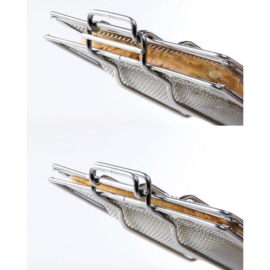 【日本高木金屬】現貨!口袋吐司不鏽鋼烤網夾 熱三明治炭烤夾 烤箱用吐司夾~日本製