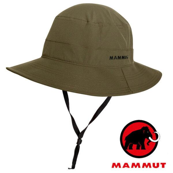 【Mammut長毛象瑞士】Runbold圓盤帽遮陽帽綠鬣蜥/04611-4584
