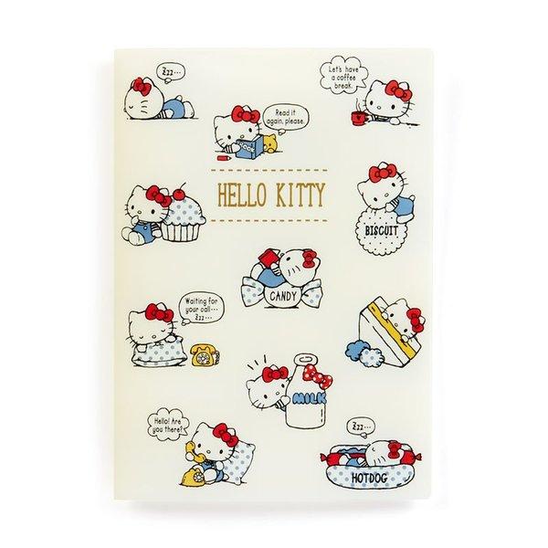 【真愛日本】18090300019收納夾書套A6-KT點心日常ADG凱蒂貓kitty年曆本收納套卡片套手帳收納包
