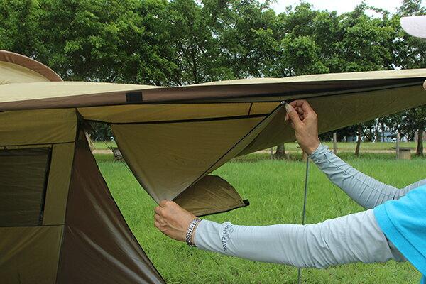 野樂全適能氣候帳 四面門可全開 四邊都有大型延伸屋簷  一房一廳 客廳帳 露營 戶外ARC-642 野樂 Camping Ace 4