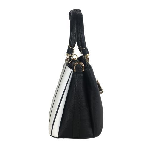 Roberto Mocali - 義大利諾貝兔黑白條紋金質提把手提斜背包2way 台南現貨可自取 情人節禮物