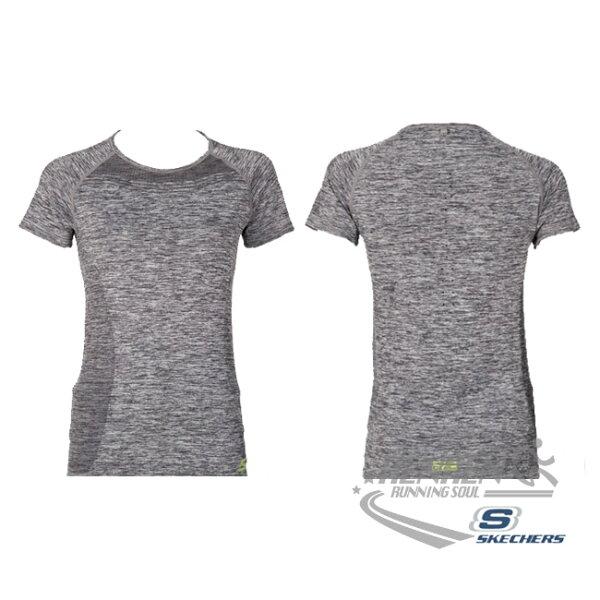 SKECHERS女短袖上衣(灰)舒適透氣排汗GWPTT441DKGYM【胖媛的店】