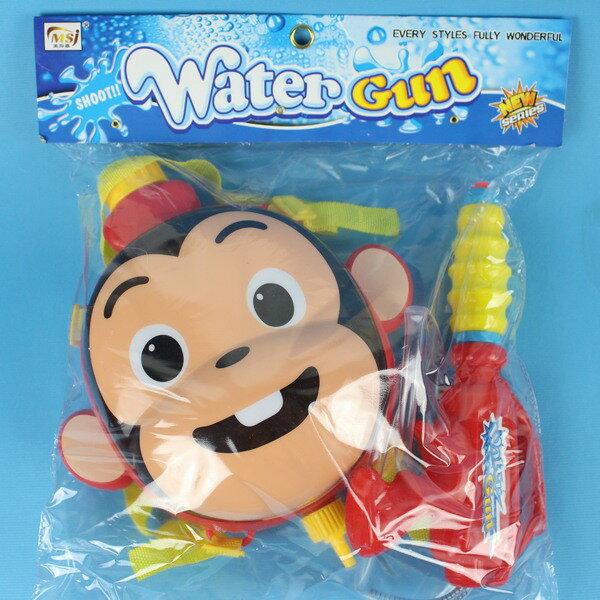 猴子背包水槍 後背式水槍 槍長24cm/一個入{促199}可背式加壓強力水槍~CF123572