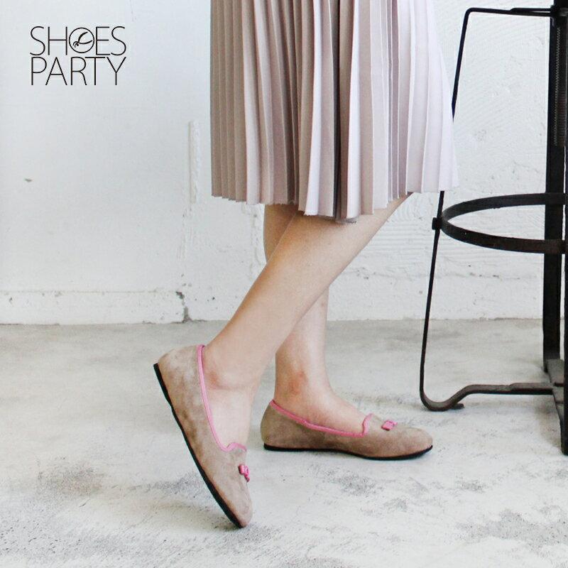 【C2-17117L】四季皆可穿,真皮小方頭蝴蝶結便鞋_Shoes Party 4