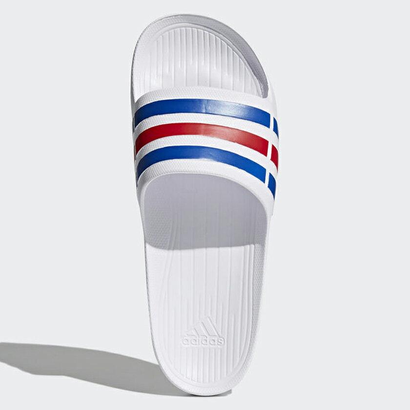 Adidas DURAMO SLIDES 男鞋 女鞋 拖鞋 沙灘拖 防水 白 藍 紅 經典 【運動世界】U43664