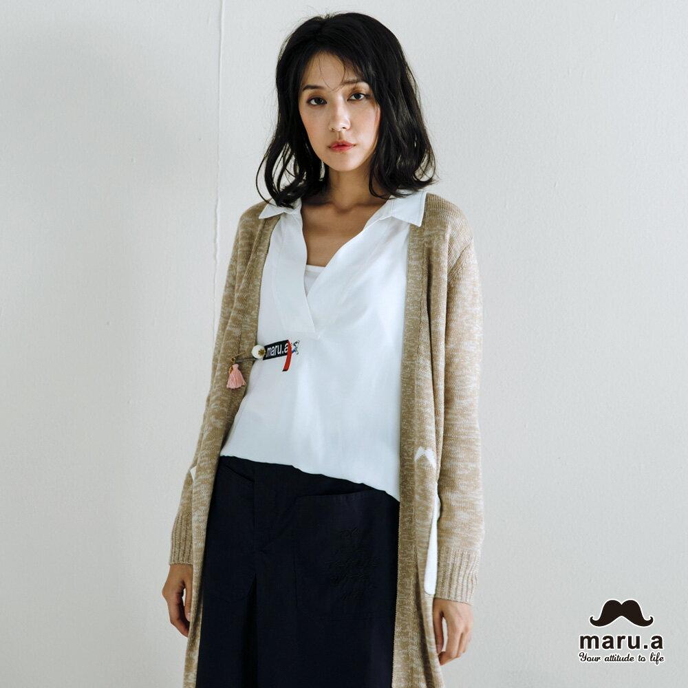 【maru.a】烏龜躲貓貓刺繡低領襯衫(2色)7923114 8