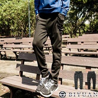 棉褲【Y0182】OBI YUAN韓版抽繩綁帶素面休閒長棉褲/哈倫褲共2色