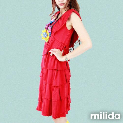 【milida】MMRYDP004☆長版荷葉邊連身裙 4