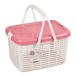《富樂雅居》日本製 CielCiel 多用途 置物箱 提籃 ( 粉紅 )