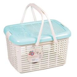 《富樂雅居》日本製 CielCiel 多用途 置物箱 提籃 ( 粉藍 )