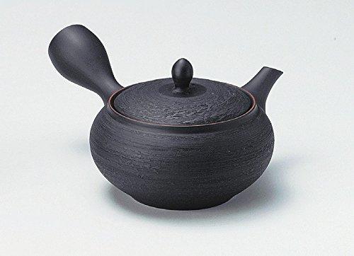 《富樂雅居》日本製 常滑燒 寶龍作 黑泥松皮朱出 急須壺 (320ml)