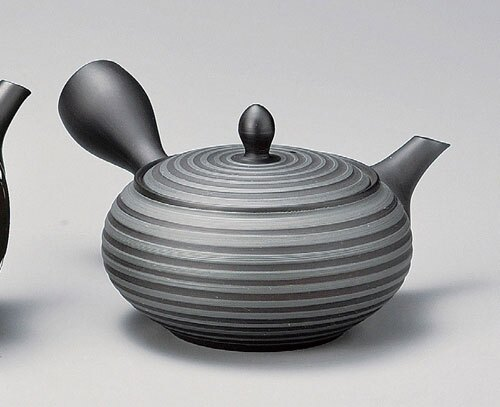 《富樂雅居》日本製 常滑燒 寶龍作 黑泥千段 急須壺 (280ml)