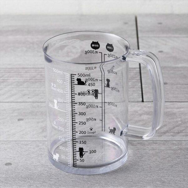 《富樂雅居》日本 貝印KAI Nyammy 貓咪 料理量杯 計量杯 ( 500ml )