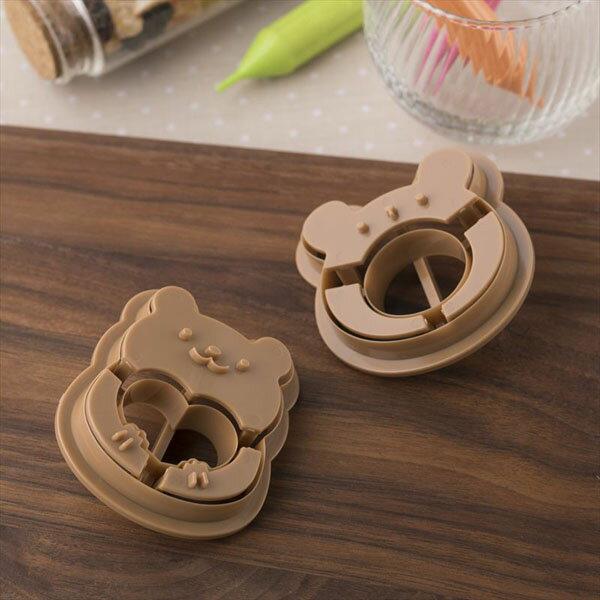 《富樂雅居》日本製貝印KAI糖心餅乾玻璃餅乾餅乾壓模(熊+熊臉)