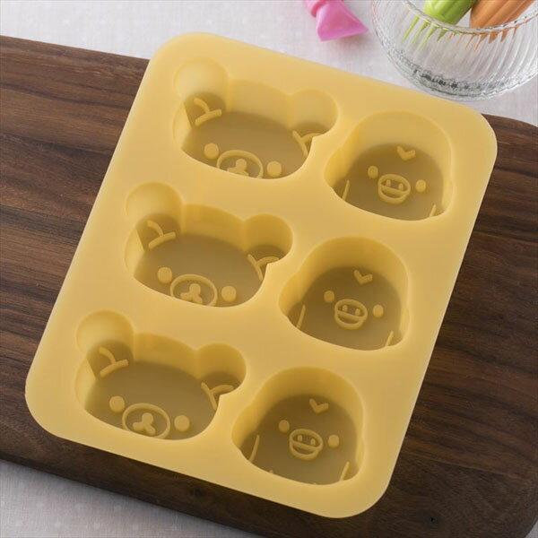 《富樂雅居》日本貝印KAI拉拉熊矽膠蛋糕模巧克力模果凍模製冰模6取(拉拉熊+小雞)