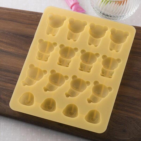 《富樂雅居》日本貝印KAI拉拉熊矽膠巧克力模果凍模製冰模16取(三種熊+小雞)