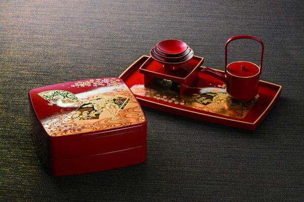 《富樂雅居》日本製 MIYABI 京雅 二段重 漆器 果盒 便當盒