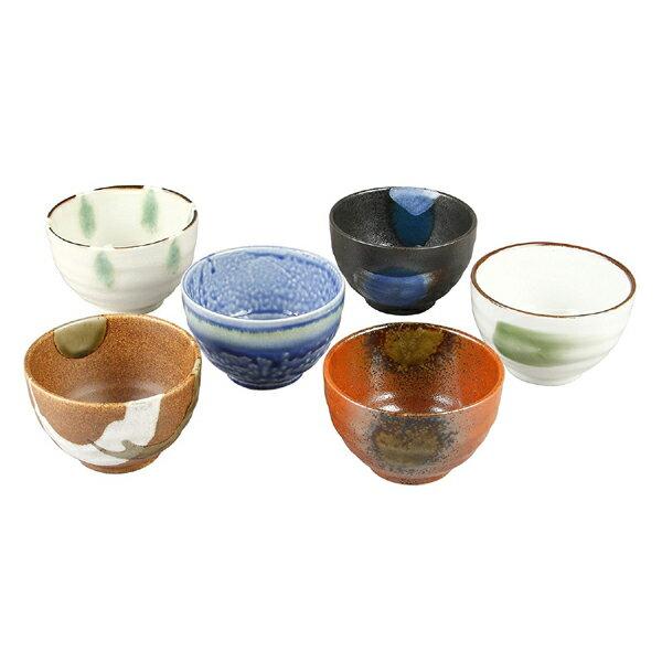 《富樂雅居》日本製 美濃燒 仁峰 六窯 よくばり陶碗 6入 陶碗組 ( 10.5cm )