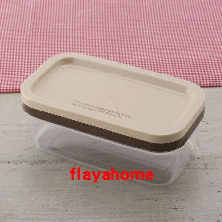 《富樂雅居》日本製 貝印 KAI 奶油 附切割器 保存收納盒