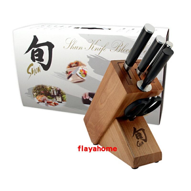 《富樂雅居》日本製 旬 Shun 不鏽鋼 刀具 六件組 (附刀座)