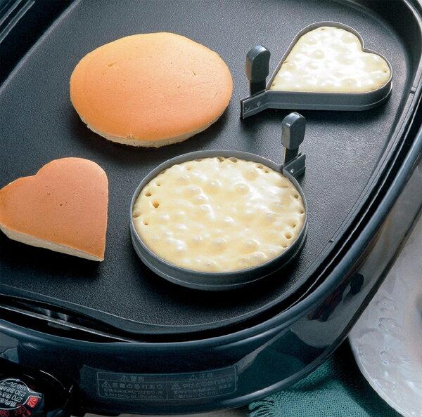《富樂雅居》日本製 TIGERCROWN Albrid 不沾 鬆餅圈 蛋圈 ( 愛心型 )