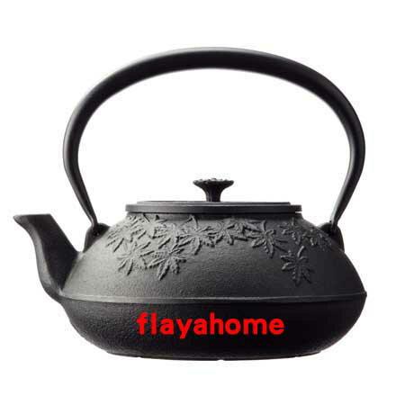 《富樂雅居》日本製 南部鐵器 及源鑄造 盛榮堂 Oigen 楓葉鐵壺 1.2L