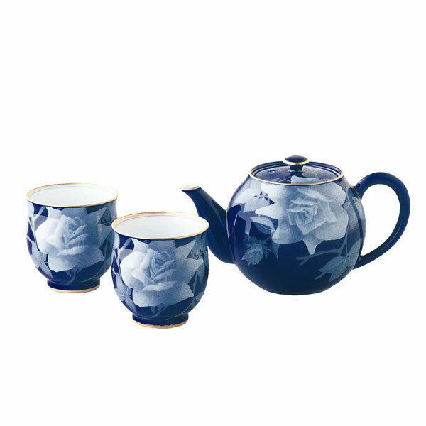 《富樂雅居》日本製 有田燒 香蘭社 琉璃 玫瑰 一壺二杯 茶壺杯組