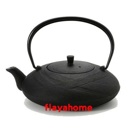 《富樂雅居》日本製 南部鐵器 及源鑄造 盛榮堂 Oigen 平行帶狀和風 急須壺 鐵壺 (0.6L)