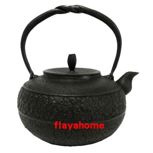 《富樂雅居》日本製 南部鐵器 及源鑄造 盛榮堂 Oigen 涼櫻花紋 鐵壺 (1.9L)