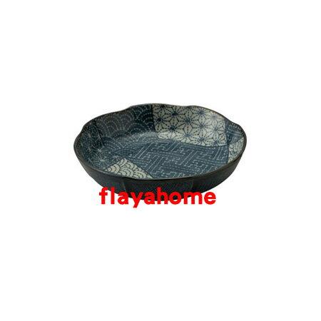 《富樂雅居》日本製 美濃燒 古染拼花 醬油碟