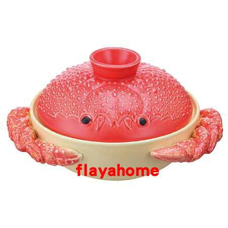 《富樂雅居》日本製 常滑燒 可愛造型 螃蟹砂鍋 ( 8號 / 適用3~4人 )