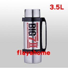 《富樂雅居》日本製 BIG77 不鏽鋼真空保溫瓶 黑色 / 3.5 L