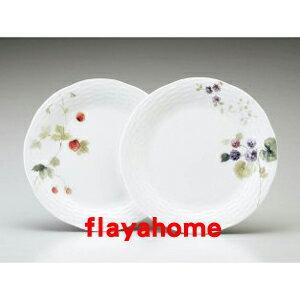 《富樂雅居》日本製 NARUMI 鳴海製陶 骨瓷 果實 雙盤組 ( 2入盤組 / 24cm )