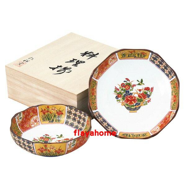 《富樂雅居》日本製 有田燒 古伊萬里 金彩 缽盤組