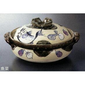 《富樂雅居》日本製萬古燒砂鍋-魚菜10號鍋(5~6人份)