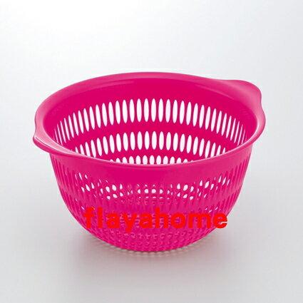 《富樂雅居》日本製 Inomata 彩色 篩籃 瀝水籃 ( 小 / 紅色 )