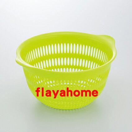 《富樂雅居》日本製 Inomata 彩色 篩籃 瀝水籃 ( 小 / 綠色 )