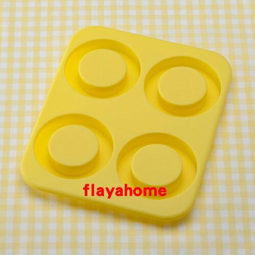 《富樂雅居》日本 貝印KAI 矽膠 甜甜圈 蛋糕模 餅乾模 ( 圓型 / 4入 )