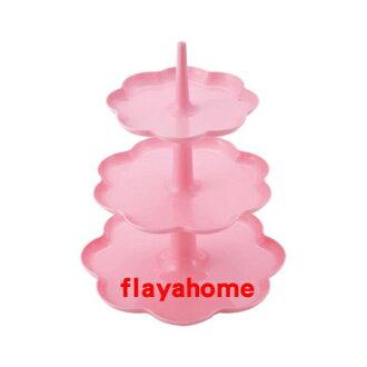 《富樂雅居》日本製 貝印 KAI 花型 三層 點心架
