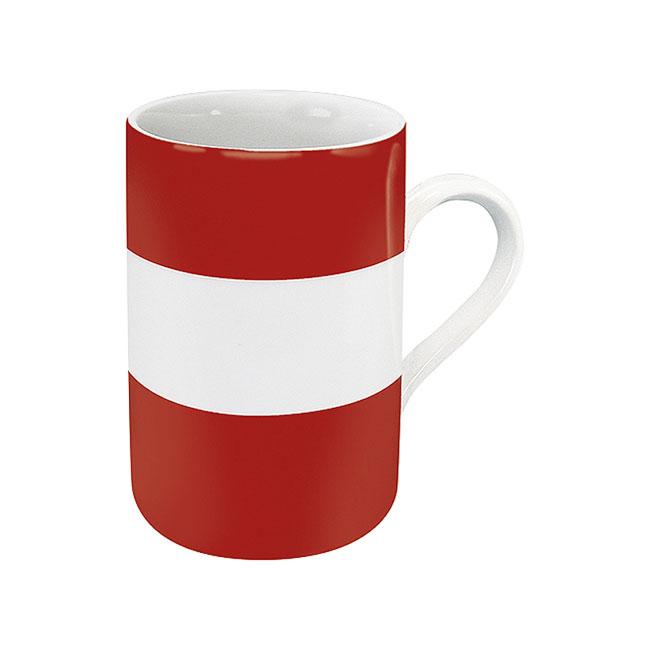 《富樂雅居》德國Konitz馬克杯-世界國旗 奧地利國旗杯