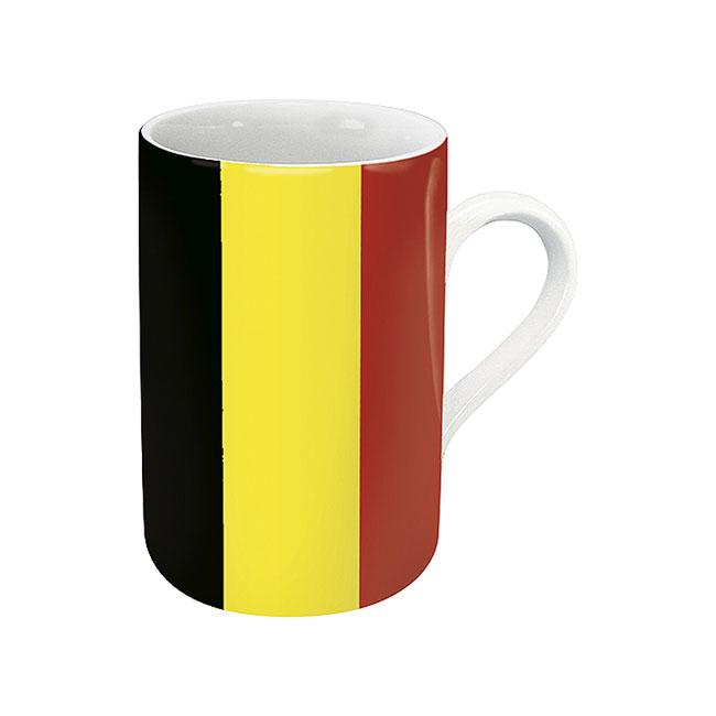 《富樂雅居》德國Konitz馬克杯-世界國旗 比利時國旗杯