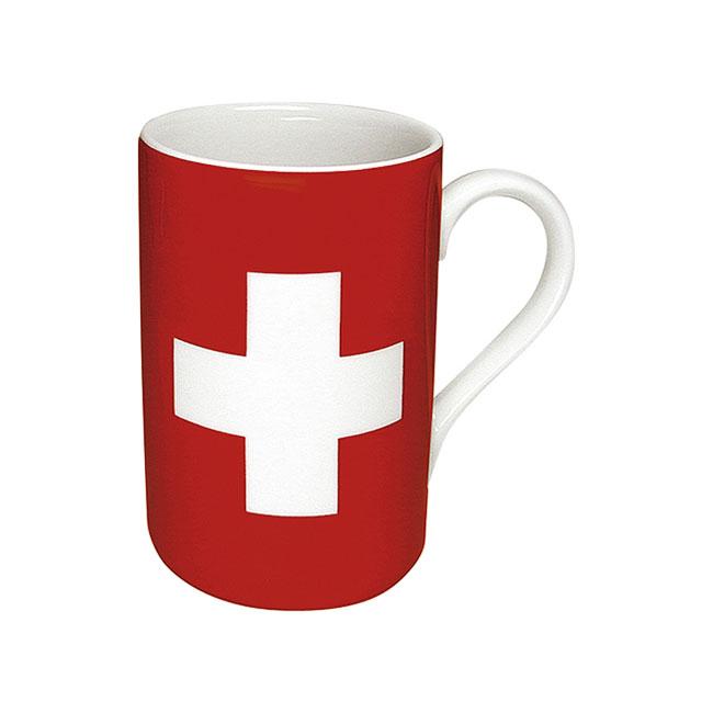 《富樂雅居》德國Konitz馬克杯-世界國旗 瑞士國旗杯