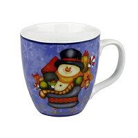 送家人聖誕交換禮物推薦聖誕禮物保溫杯/馬克杯到《富樂雅居》德國Konitz馬克杯-聖誕快樂 小雪人偷閒 胖胖杯就在FLAYA HOME推薦送家人聖誕交換禮物