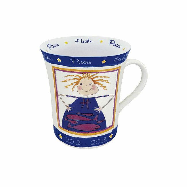 《富樂雅居》德國Konitz馬克杯 星座系列 雙魚座 拿鐵杯 馬克杯 ( 2/20~3/20 )